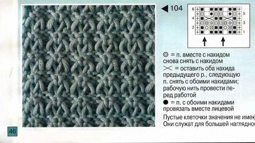 Вязание спицами плотные простые узоры 81