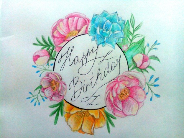 Нарисовать открытку маме на день рождения своими руками 52