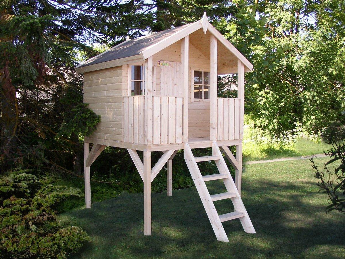 Детский домик из дерева своими руками: строительство избушек 38