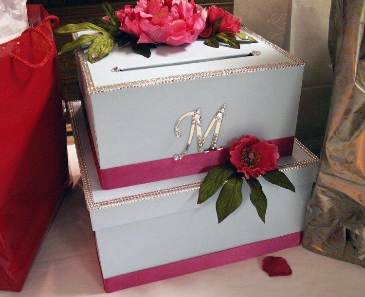 Коробка с подарком на свадьбу своими руками 49