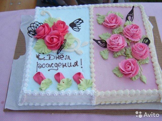 Торт в виде открытки на день рождения 43