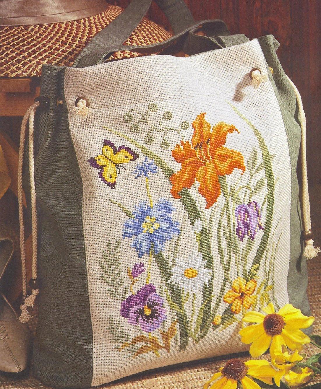 Вышитые сумки из ткани своими руками 61