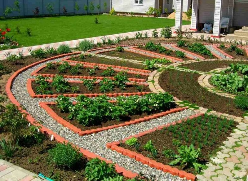 Огород дизайн 6 соток своими руками с грядками