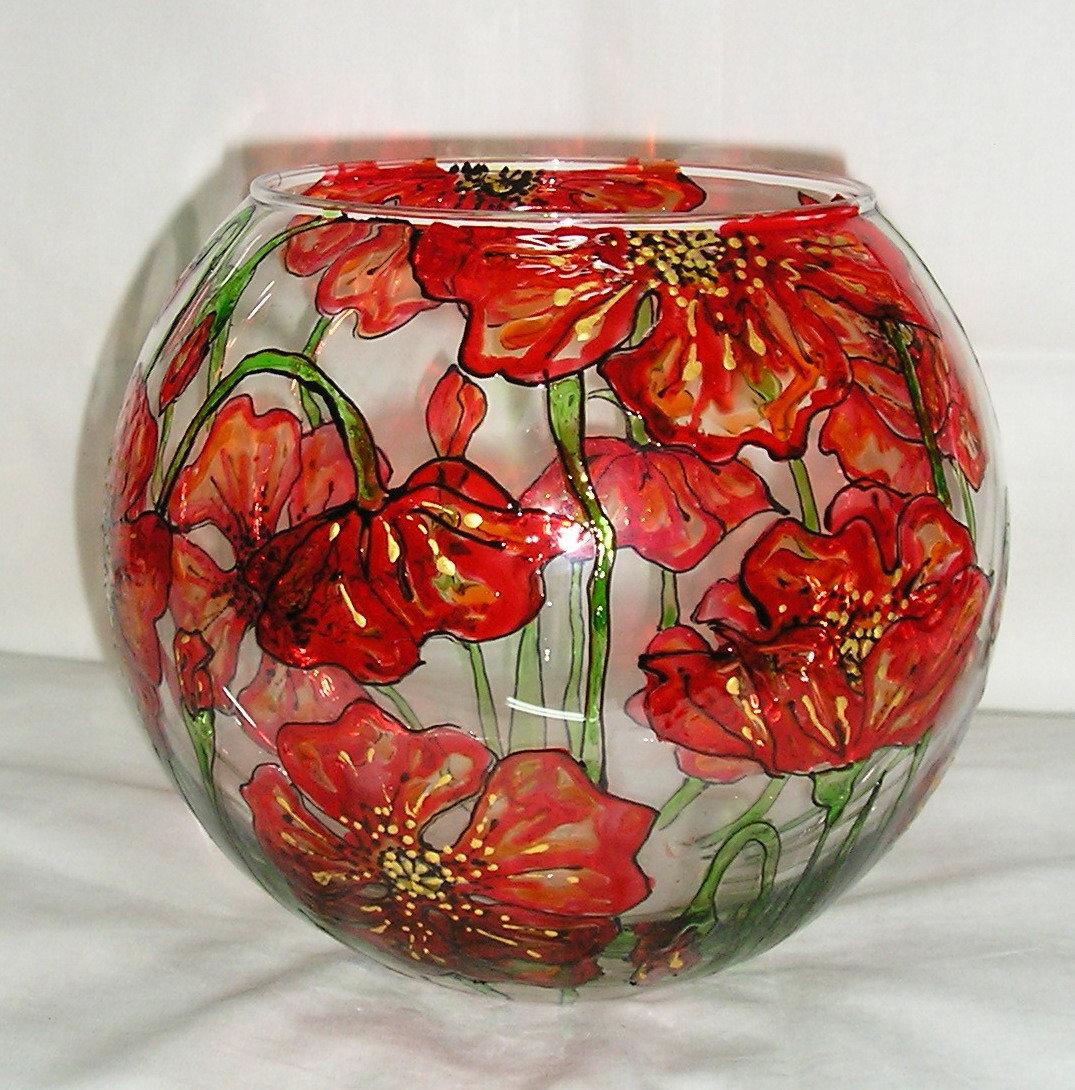 Роспись стекла.вазы