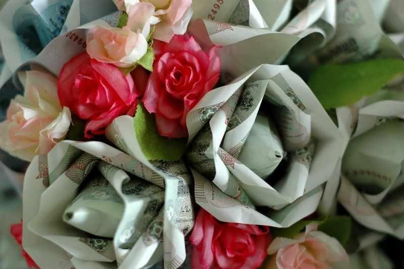 Цветы с деньгами своими руками 510