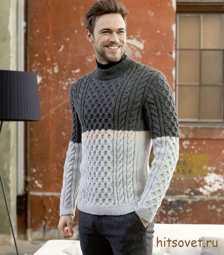 Джемпер. вязание для мужчин 167