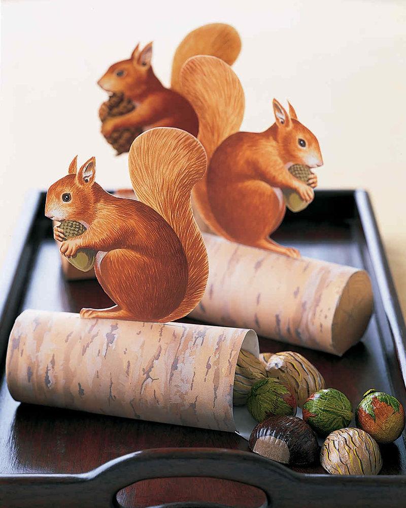 Орешки для белки поделка 88