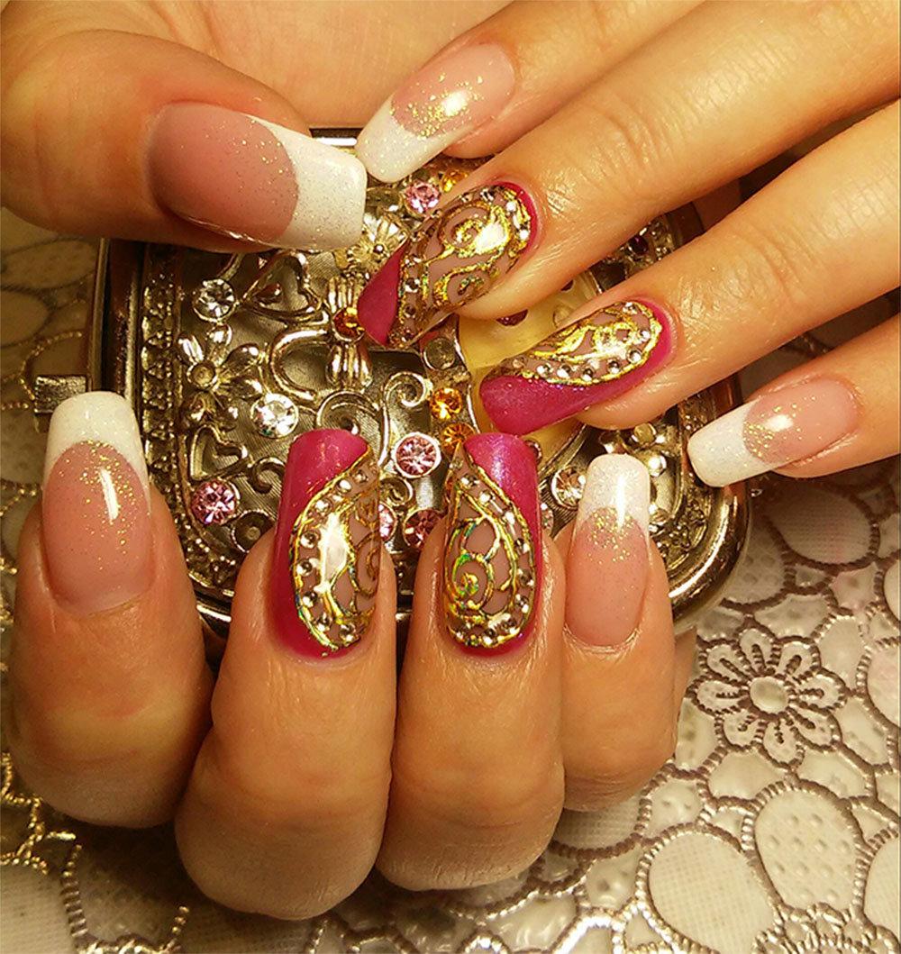 Дизайн ногтей с золотым фото