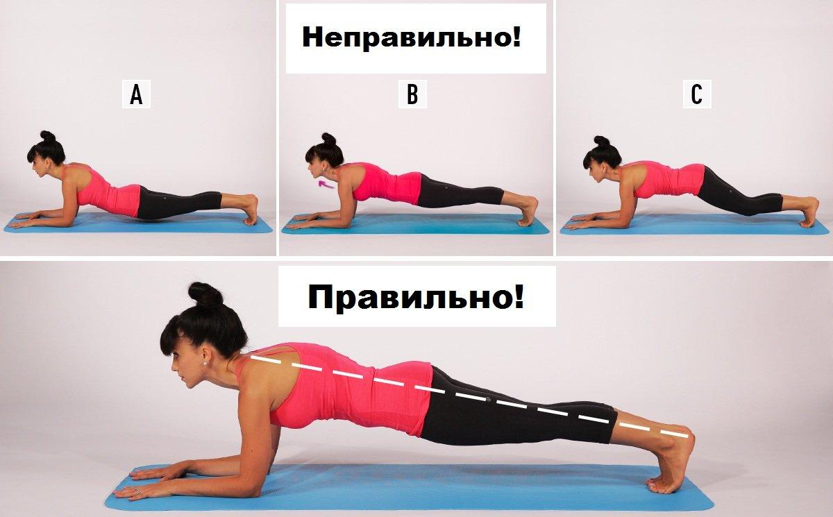 Как делать планку для похудения фото