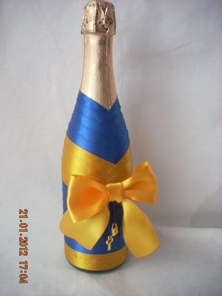Украсить шампанское на день рождения своими руками 41