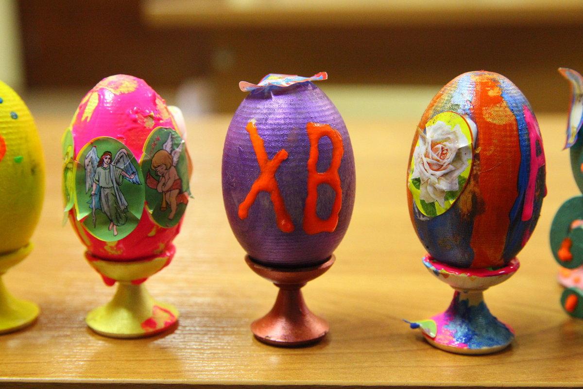 Яйца для детей к пасхе фото