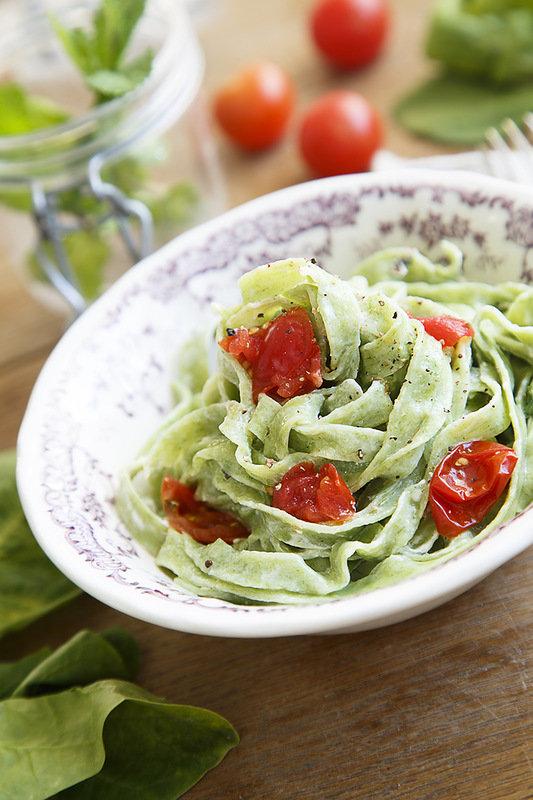 Рецепты пасты со шпинатом и
