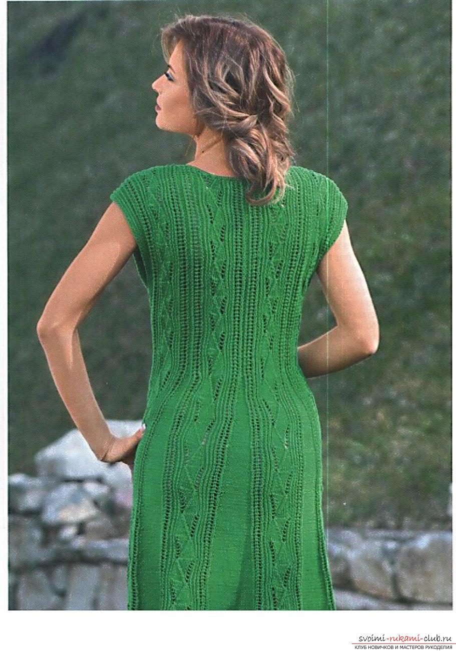 Вязание на спицах платья