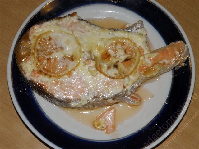 Рыба запеченная в фольгеы с фото