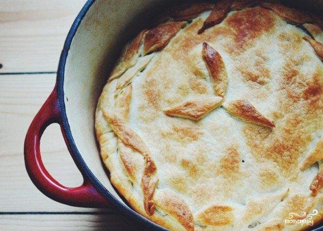 Пирог с капустой без молока рецепт