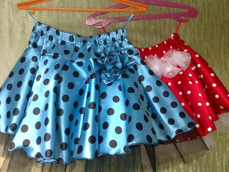 Как сшить атласную юбку для девочки