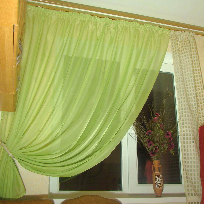 Сама сшила шторы на кухню 82