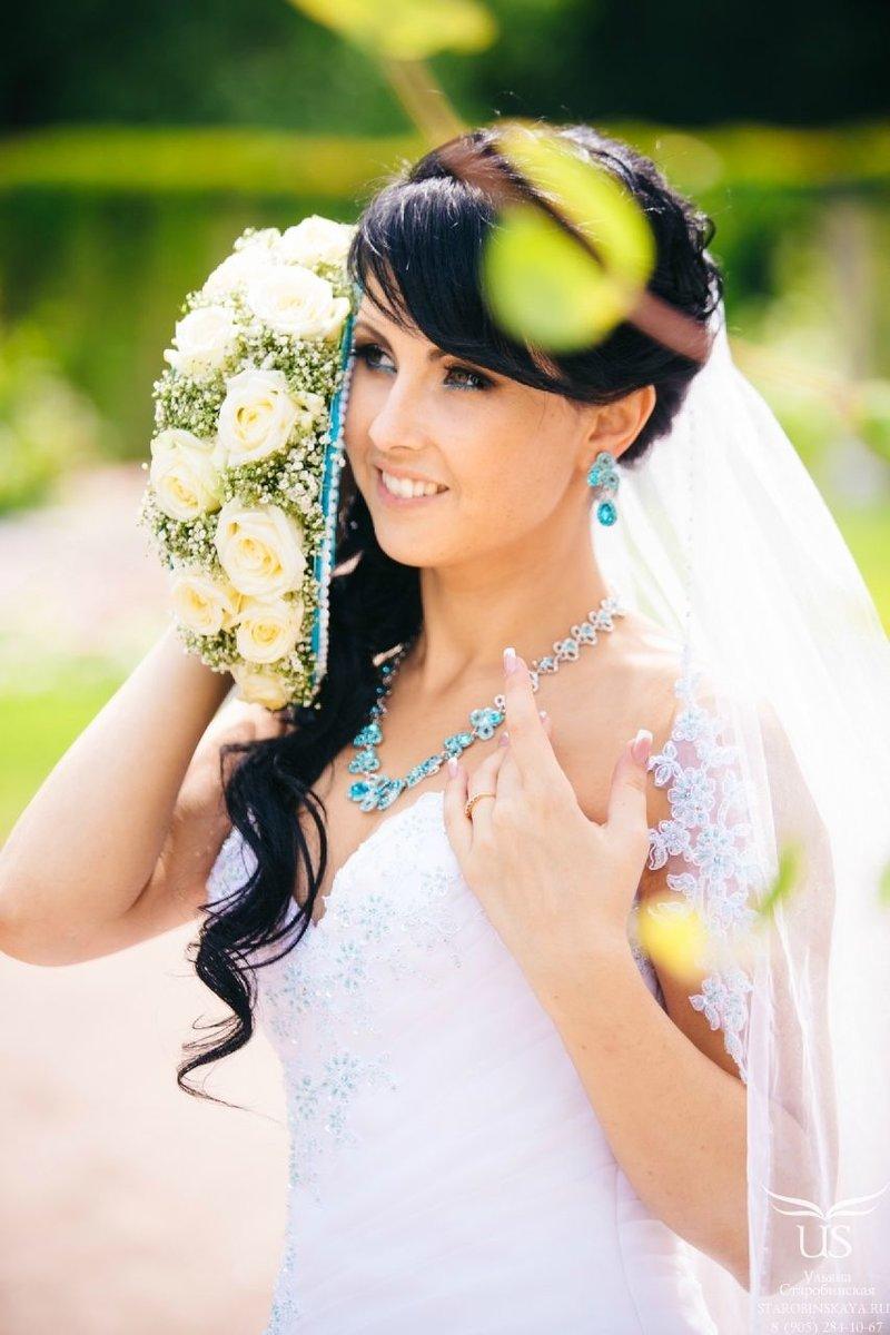 Свадебные причёски локоны с чёлкой