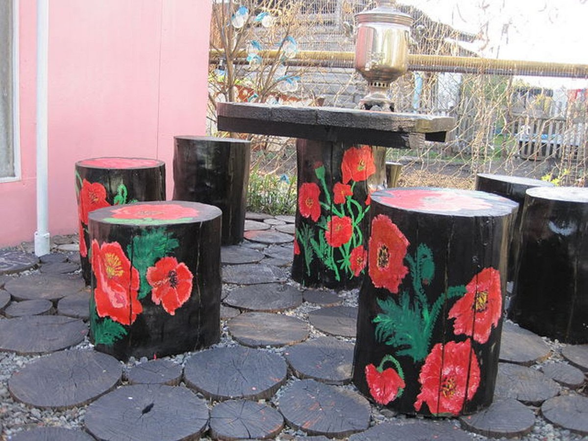 Своими руками цветы из подручных материалов для дачи фото