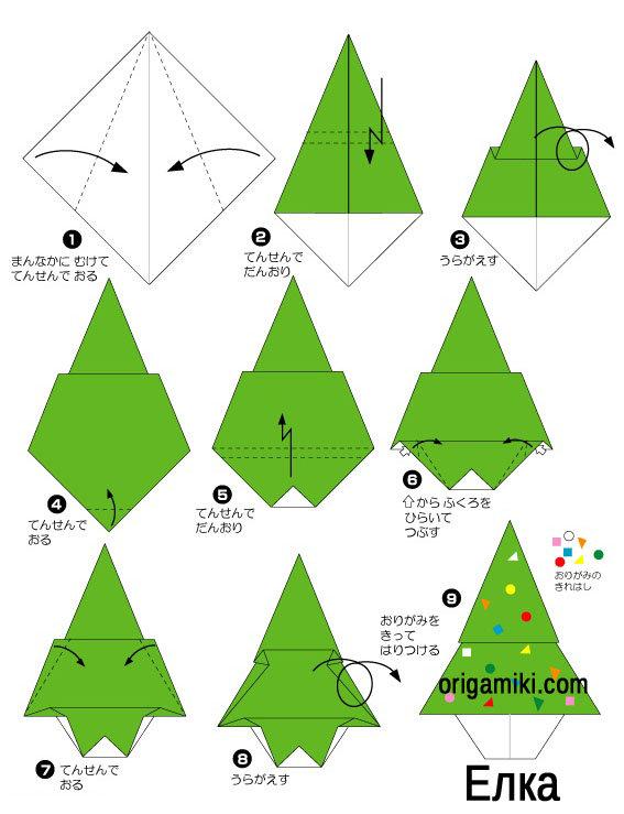 Схема если на новый год оригами
