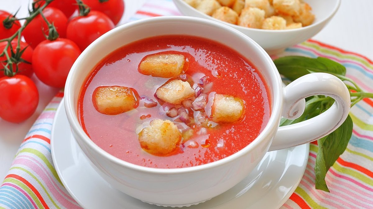 Рецепт гаспачо в домашних условиях из помидоров