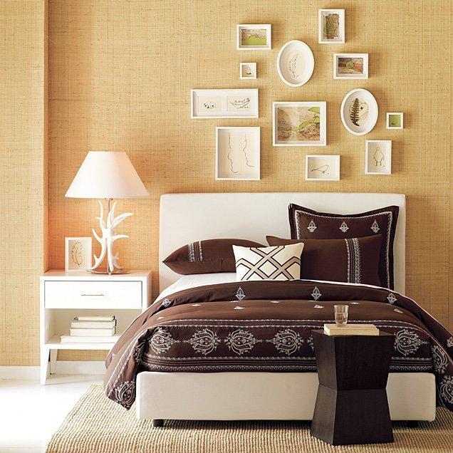 Как украсить стену в спальне своими руками фото 92