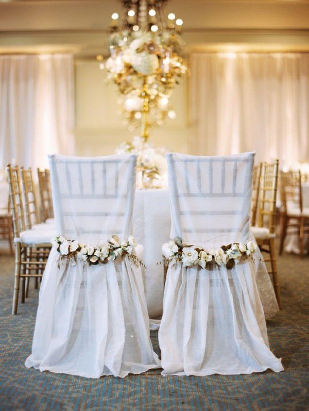 Декор стульев на свадьбу своими руками фото