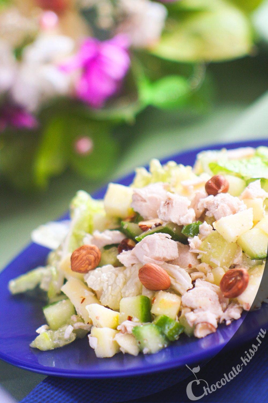 Простой салат с куриным филе рецепты