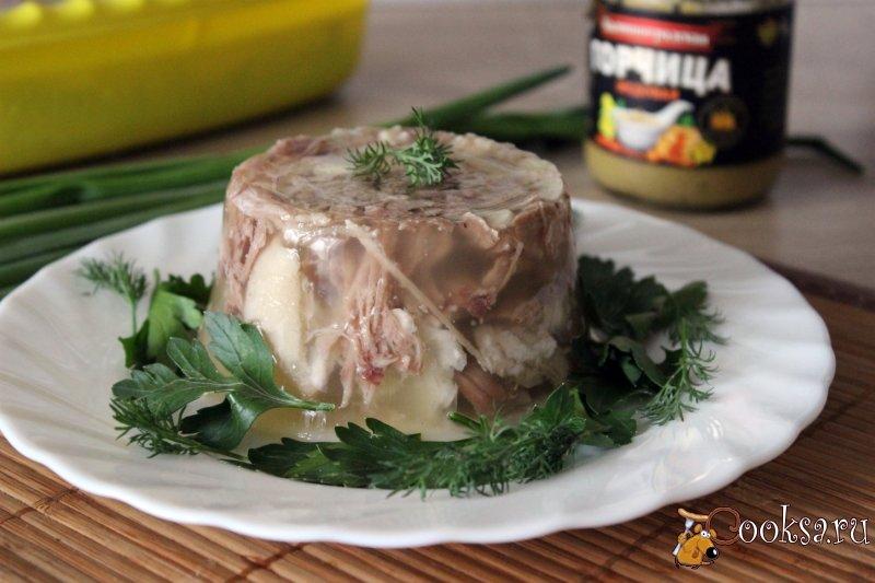 Пошаговый рецепт холодца из свинины с