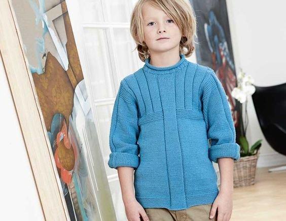 Пуловер для подростка вязание 56