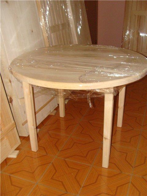 Как сделать стол круглый из дерева 604