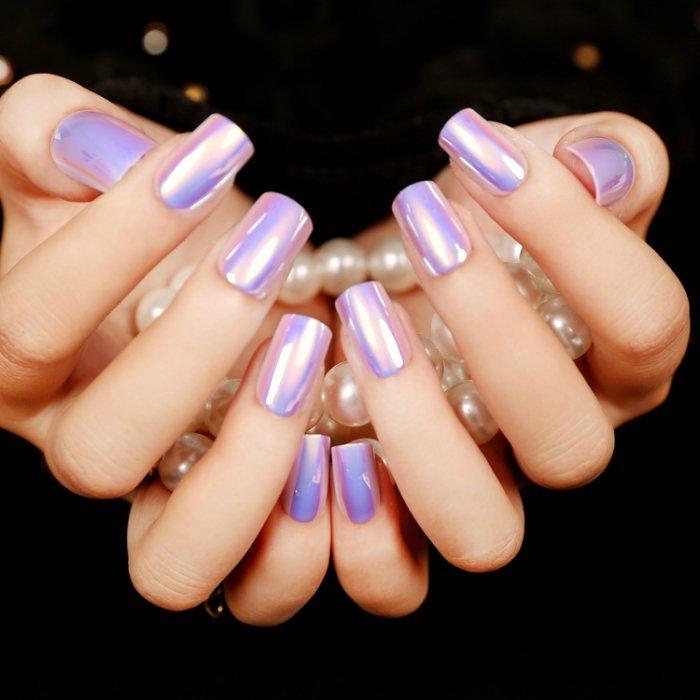 Маникюр с накладными ногтями фото