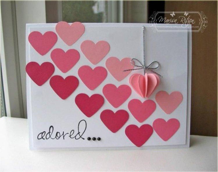 Оригинальные открытка с днем святого валентина своими руками