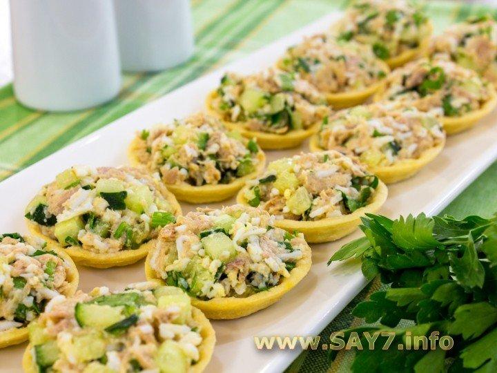 Как сделать тарталетки с салатом