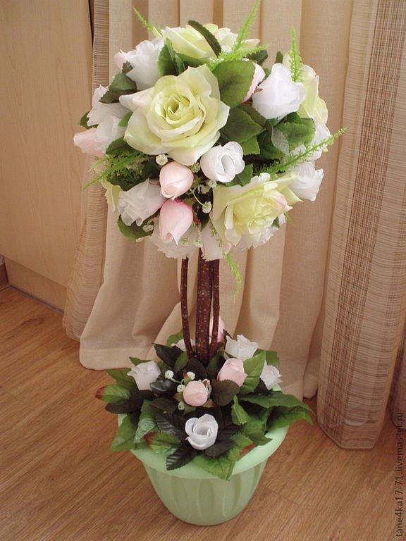 Цветы для топиария фото - Топиарий: фото. Дерево топиарий своими руками