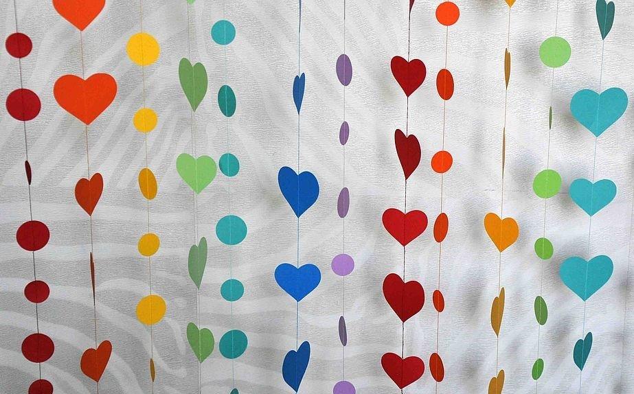 Гирлянды сердечками из бумаги своими руками 65