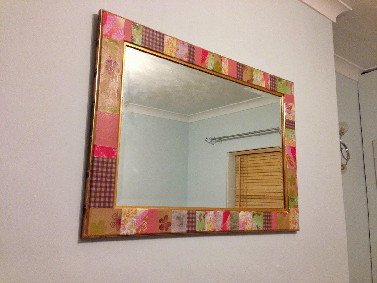 Оформление зеркал своими руками 80