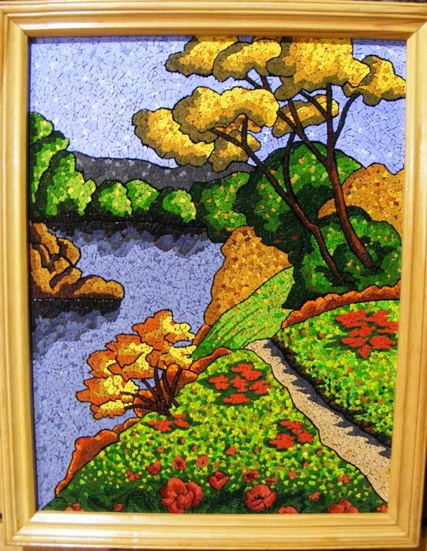 Картины из мозаика мастер класс