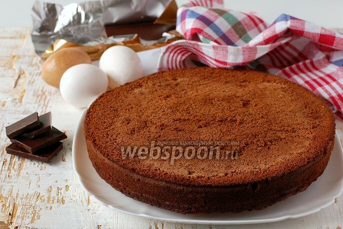Рецепт шоколадного бисквита пошагово