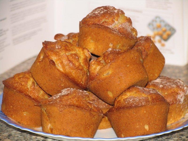 Яблочные кексы на кефире рецепт