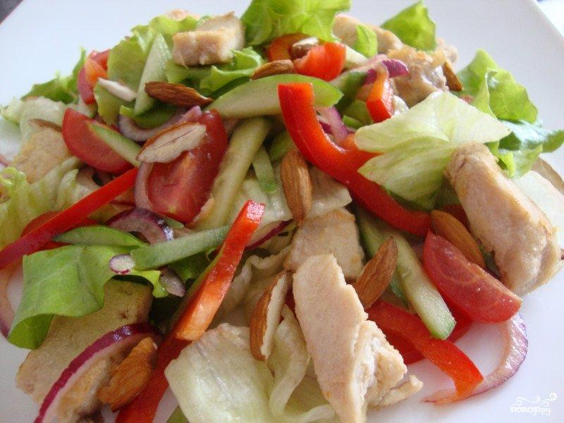 Салат с курицей и болгарским перцем простой рецепт 196