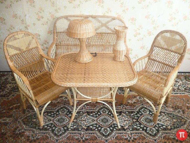 Плетение из ивы мебель