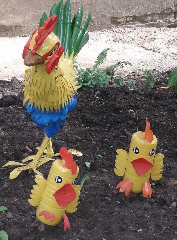 Цыплята из пластиковых бутылок своими руками пошагово