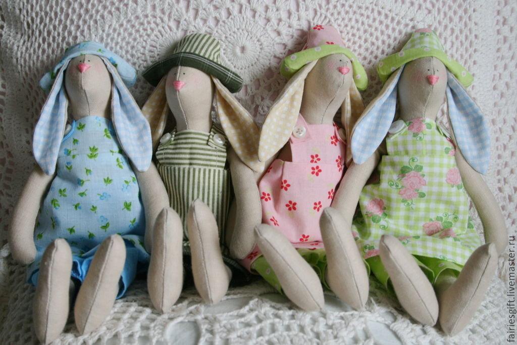 Куклы Тильда. Пасхальный заяц. Иллюстрированные