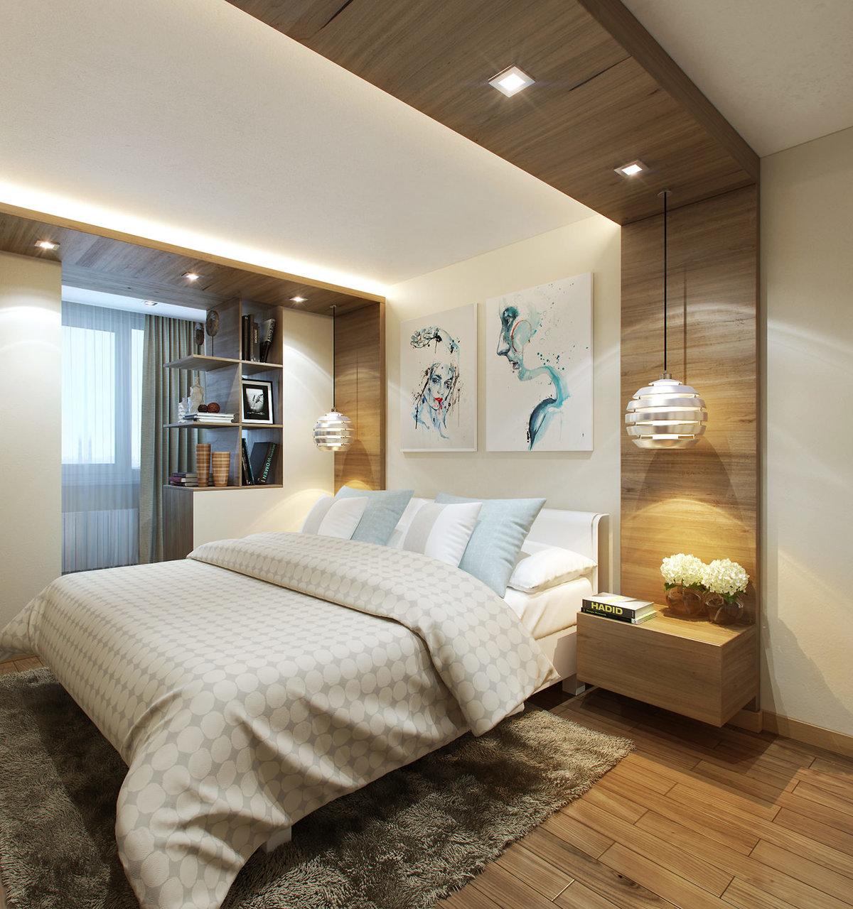 Дизайн интерьера спальни 13 квм.