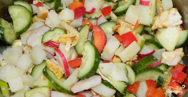 Вкусные но простые без майонеза салаты с