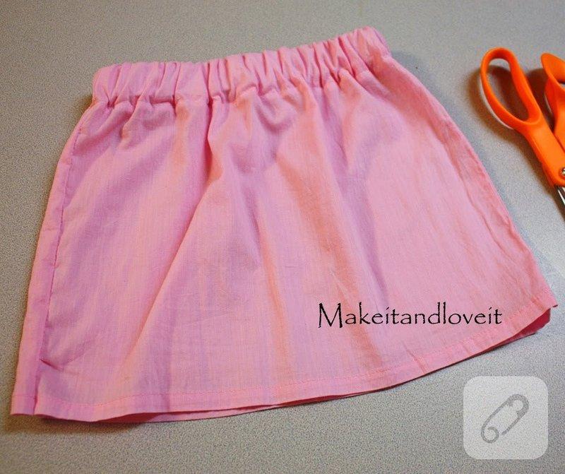 Как сшить юбку на резинке для девочки  пошагово