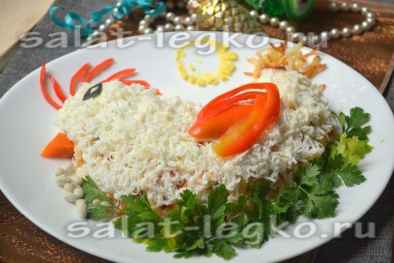 Новогодние салаты с красной рыбой 2017 рецепты