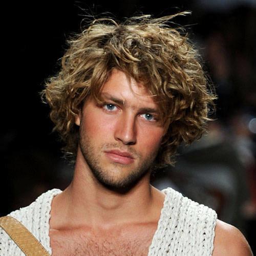 Мужские стрижки удлиненные на вьющихся волосах
