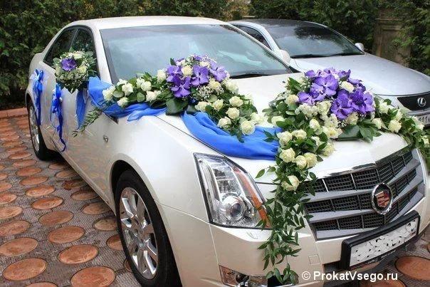 Фото свадебной машины живыми цветами